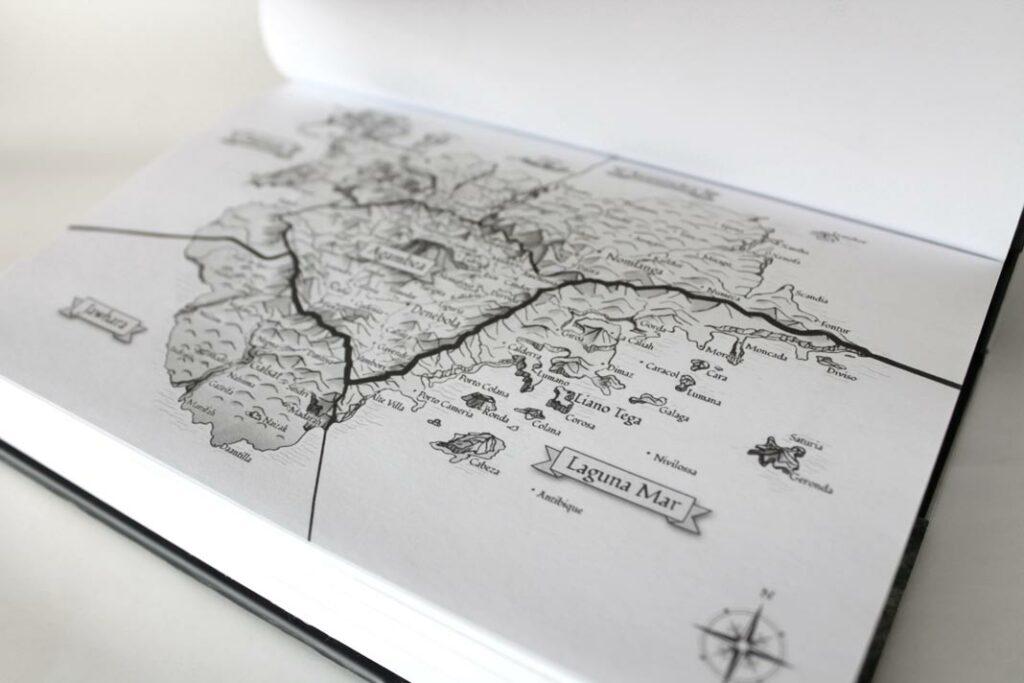 Karte in der Hardcoverausgabe
