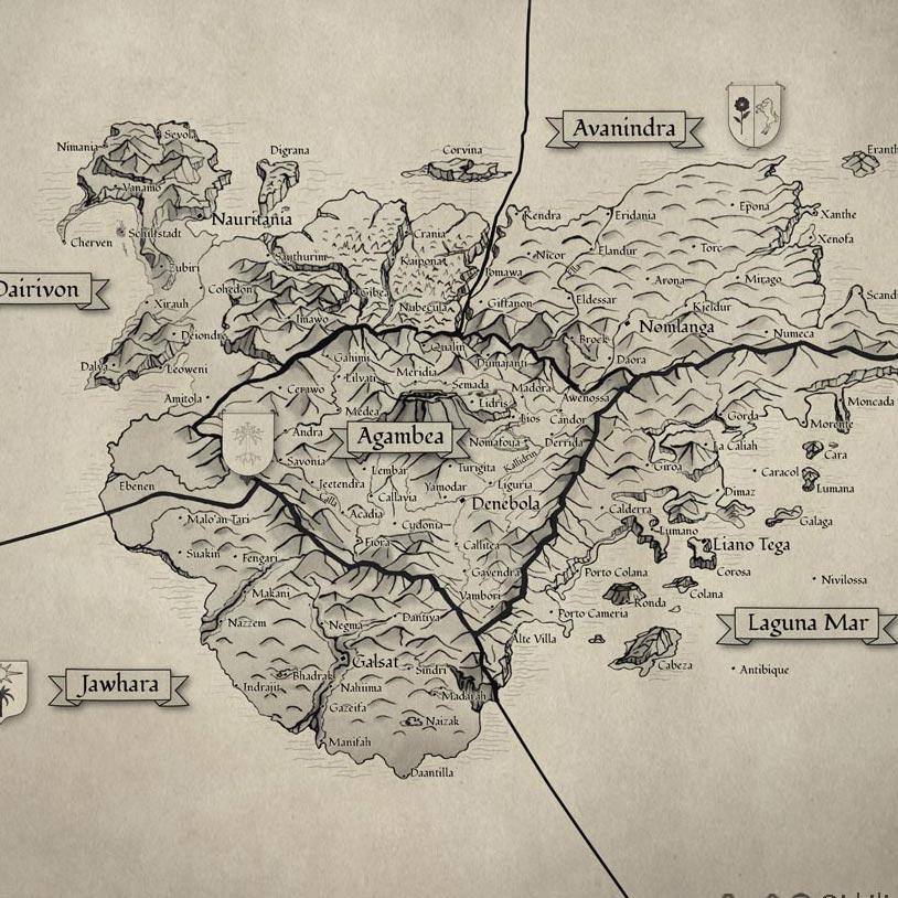 Karte Othersides Fantasyroman