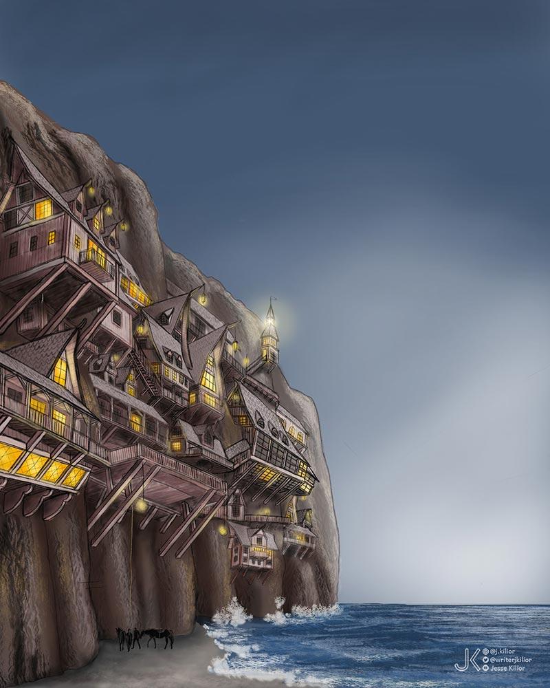 conceptartwork fantasy city